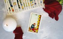 The eight of pentacles for future, love and money readings