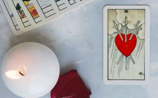 Three of Swords meaning depends on position