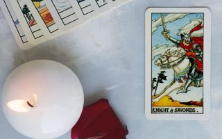 The Knight of Swords tarot card meanings by position