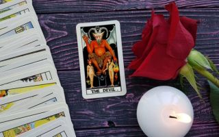 The Devil tarot card meaning in upright position