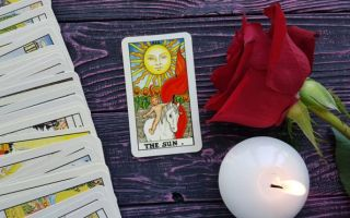 The reversed Sun tarot card meaning