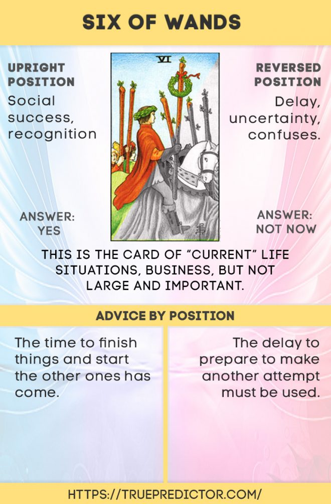 Six of wands ALL meanings in tarot card readings