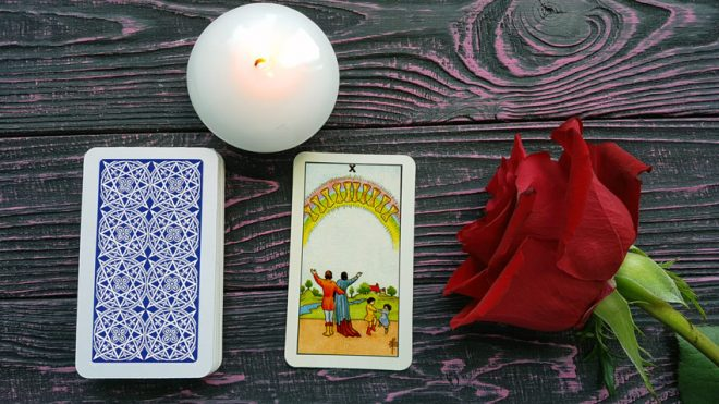 Ten of Cups meaning in love and money tarot readings — True prediction